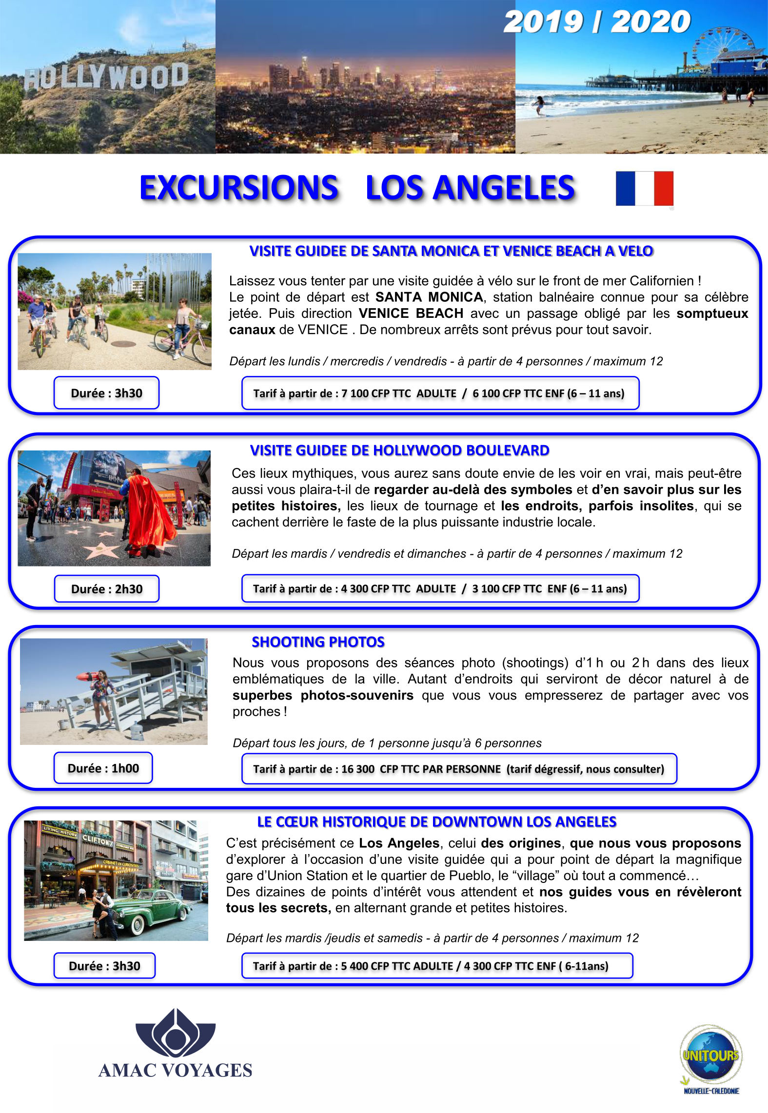 excursions los angeles usa page 1